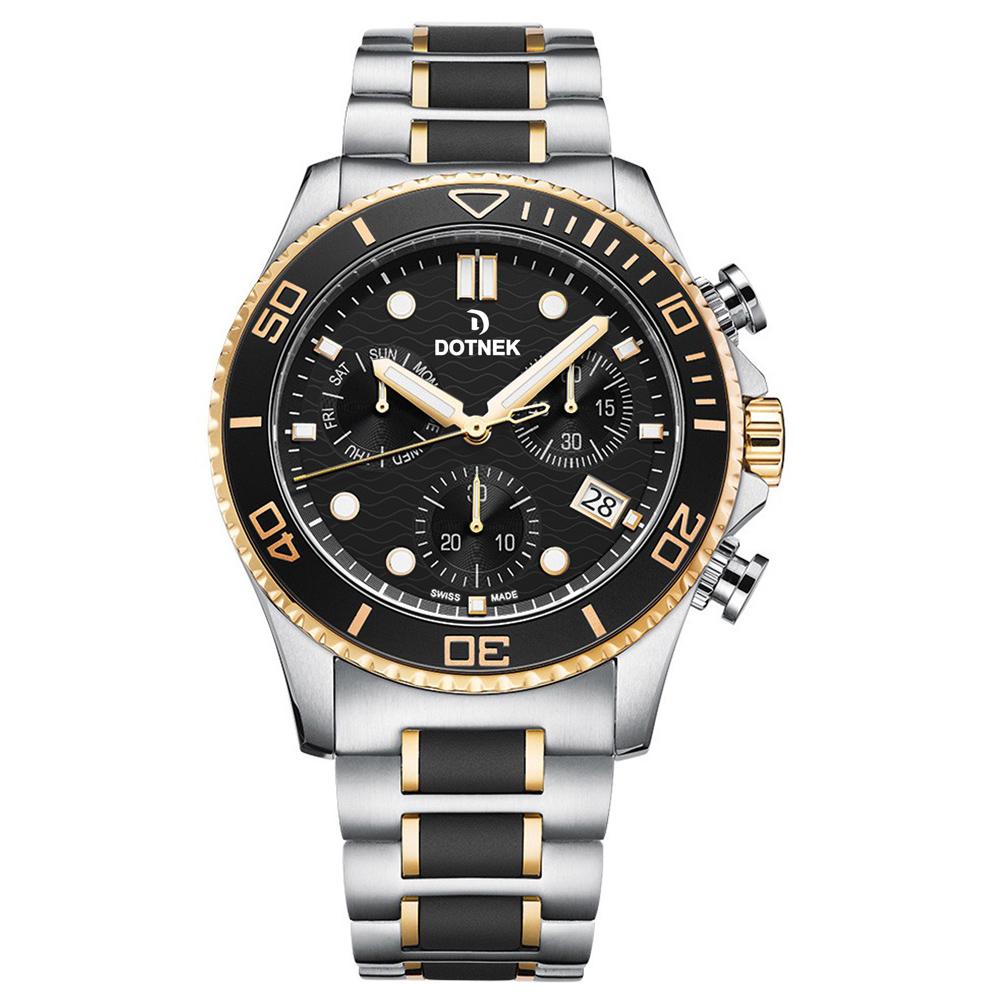 Men's stop-watch collection. DOTNEK quartz wristwatch